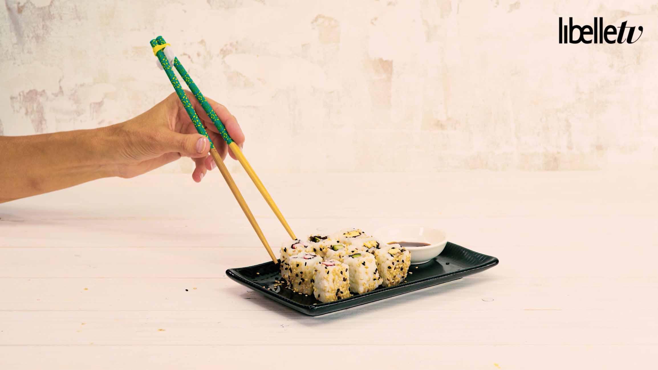 Vanaf nu kan iedereen sushi met stokjes eten libelle tv for Belle jardin slimming expert