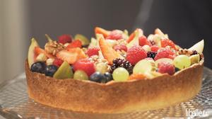 Fruittaart met Griekse yoghurt
